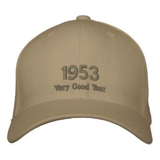 Sehr gutes Jahr gestickter Hut 1953