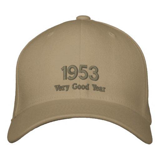 Sehr gutes Jahr gestickter Hut 1953 Bestickte Baseballkappe