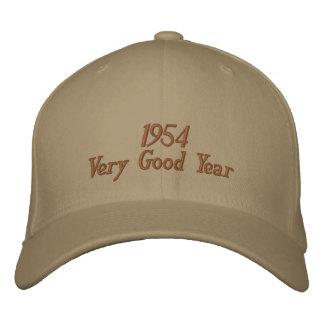 Sehr gutes Jahr gestickter Hut 1954