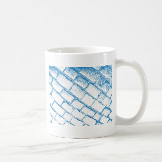 Sehr hellblaue Kopfsteine Kaffeetasse