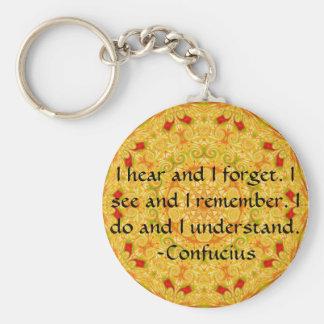 Sehr kluges Konfuzius-Zitat Schlüsselanhänger