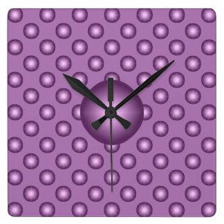 Sehr Lavendel-Tupfen Quadratische Wanduhr