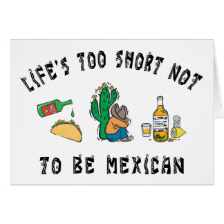 Sehr lustige mexikanische Karte