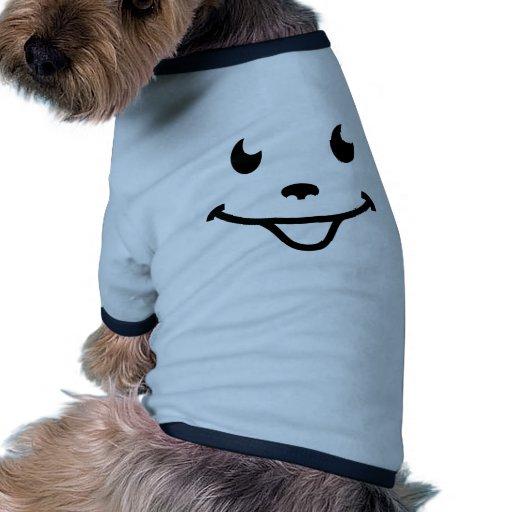 Sehr lustiges lächelndes Gesicht Hundeshirt