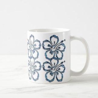 Sehr schöne blaue Blumen Tasse