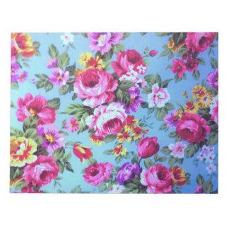 Sehr schöner trendy Blumen Notizblock