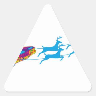 Sehr Supernaturnal Weihnachten Dreieckiger Aufkleber