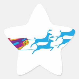 Sehr Supernaturnal Weihnachten Stern-Aufkleber