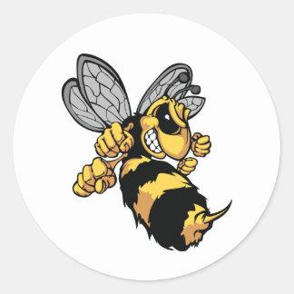 Sehr verärgerte Bienen-Aufkleber Runder Aufkleber