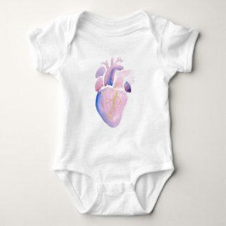Sehr violettes Herz Baby Strampler