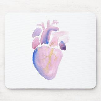 Sehr violettes Herz Mousepad