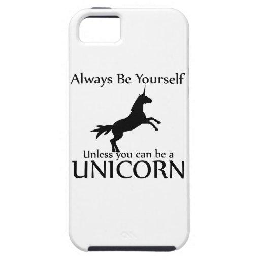 Sei Du selbst. Einhorn iPhone 5 Hülle