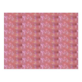 SEIDENES rosa Webart-Grafik-Muster Postkarten