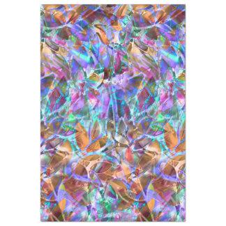 Seidenpapier-abstraktes beflecktes mit Blumenglas Seidenpapier