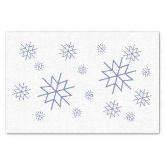 Seidenpapier - blaue Schneeflocken