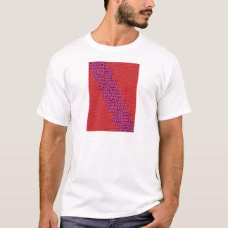 Seidiger ROTER blauer Streifen EINZIGARTIGE T-Shirt