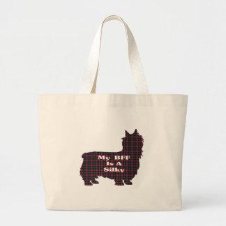 Seidiger Terrier BESTE FREUNDIN Geschenke Jumbo Stoffbeutel