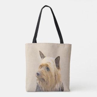Seidiger Terrier-Malerei - niedliche ursprüngliche Tasche