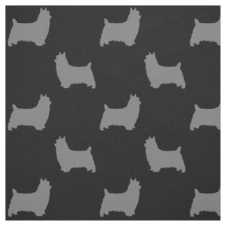 Seidiger Terrier-Silhouette-Muster Stoff