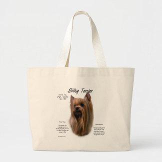 Seidiges Terrier-Geschichtsentwurf Jumbo Stoffbeutel