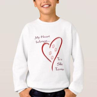 Seidiges Terrier-Herz gehört Sweatshirt
