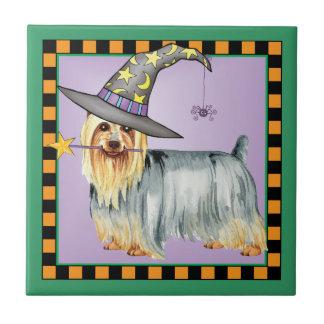 Seidiges Terrier-Hexe Keramikfliese