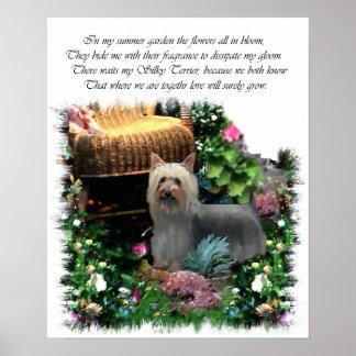 Seidiges Terrier-Kunst-Druck Poster