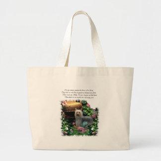Seidiges Terrier-Kunst-Geschenke Jumbo Stoffbeutel