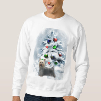 Seidiges Terrier-Weihnachtsgeschenke Sweatshirt