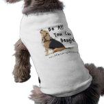 Seien Sie alle, die Sie Beagle können! Pet T-Stück Hunde-t-shirt