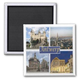 SEIEN Sie * Belgien - Antwerpen Quadratischer Magnet