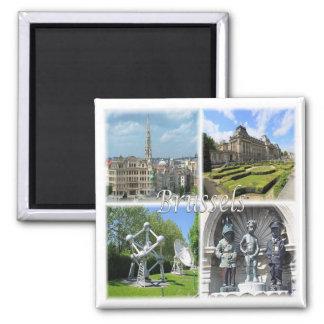 SEIEN Sie * Belgien - Brüssel Quadratischer Magnet