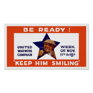 Seien Sie bereit! Behalten Sie ihn zu lächeln -- Poster