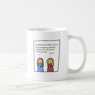 Seien Sie bereit Kaffeetasse