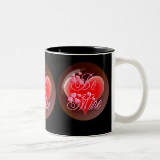 SEIEN Sie BERGWERK-BLASEN-HERZ auf Schwarzem durch Tee Tassen