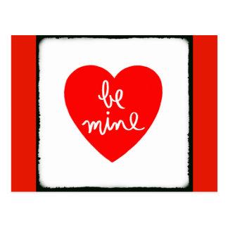 Seien Sie Bergwerk-Herz Postkarte
