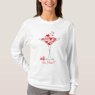 Seien Sie Bergwerk-Valentinsgruß-Herz-Cocktail T-Shirt