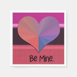Seien Sie Bergwerk-Valentinsgruß-reflektierendes Papierservietten