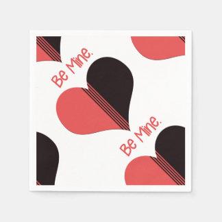 Seien Sie Bergwerk-Valentinsgruß-rotes Servietten
