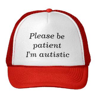 Seien Sie bitte ich sind autistisch geduldig (100% Retrokult Cap