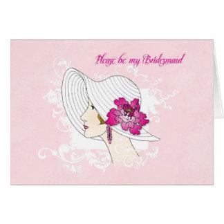 Seien Sie bitte meine Brautjungfer Karte