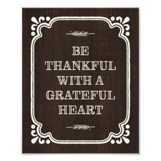 Seien Sie dankbarer | Erntedank-Kunst-Druck Fotografien