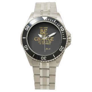Seien Sie die Änderung - Gandhi inspirierend Armbanduhr