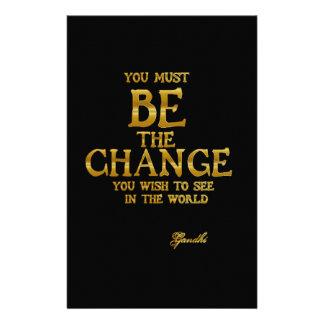 Seien Sie die Änderung - Gandhi inspirierend Briefpapier