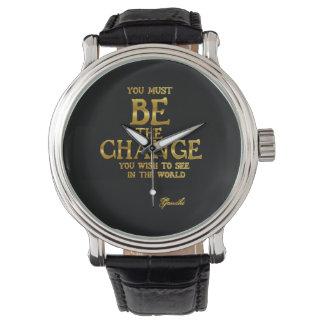 Seien Sie die Änderung - Gandhi inspirierend Uhr
