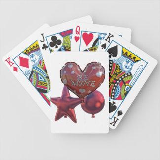 Seien Sie die Bergwerk-Valentinsgrüße, die Ballone Bicycle Spielkarten