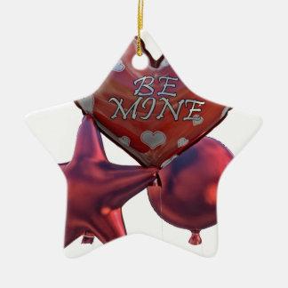 Seien Sie die Bergwerk-Valentinsgrüße, die Ballone Keramik Ornament