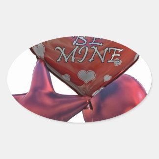 Seien Sie die Bergwerk-Valentinsgrüße, die Ballone Ovaler Aufkleber