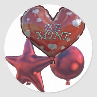 Seien Sie die Bergwerk-Valentinsgrüße, die Ballone Runder Aufkleber