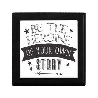 seien Sie die Heldin Ihrer eigenen Geschichte Geschenkbox